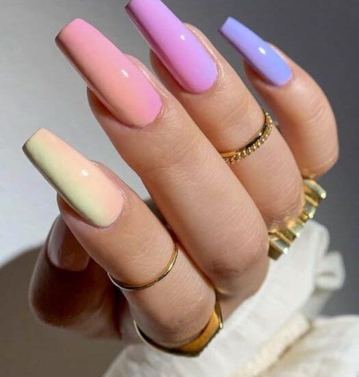 Rainbow summer nails design ideas