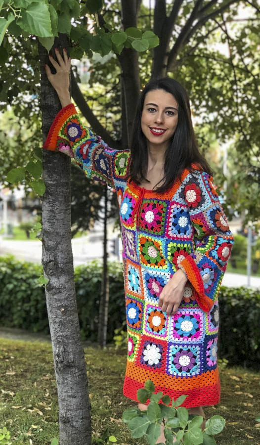 crochet granny square dress (1)