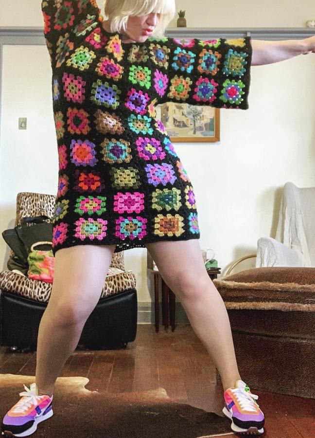 granny square dresses easy