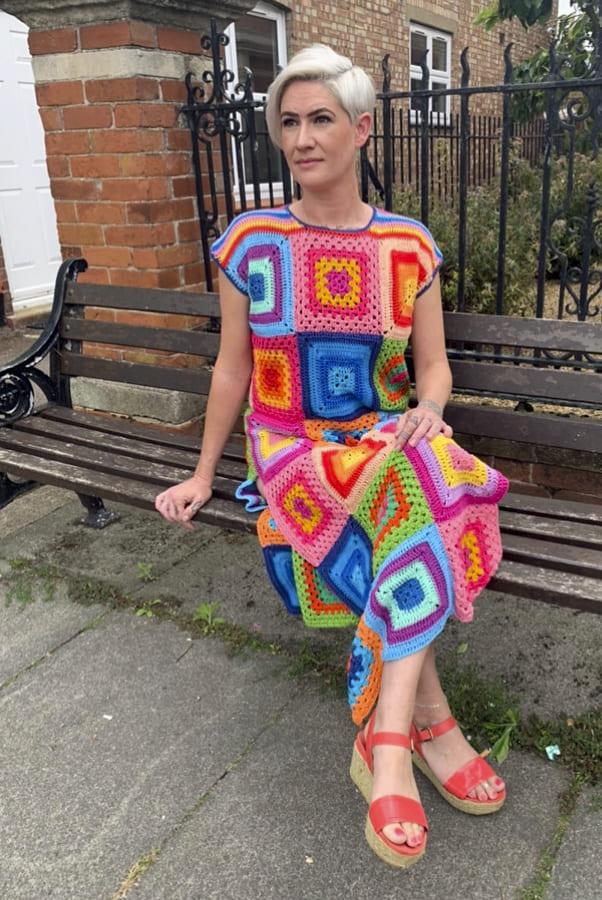 interweave crochet granny square dress (2)