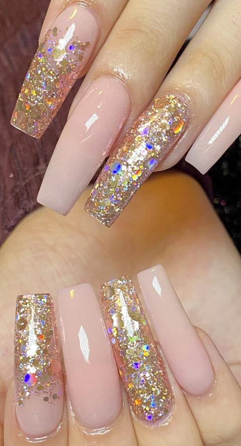 Nude acrylic nails Designs