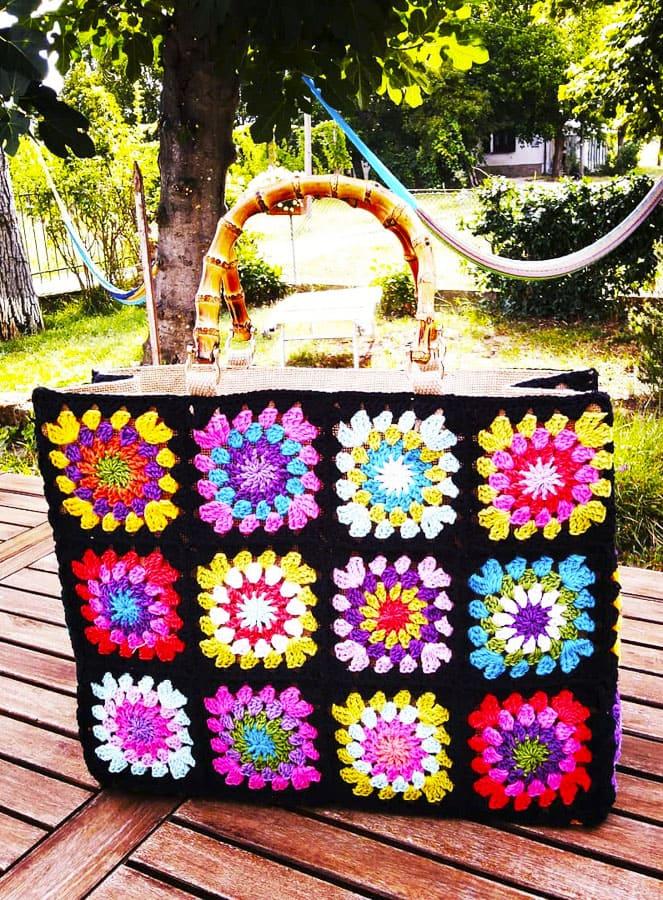 Granny Square colored bags