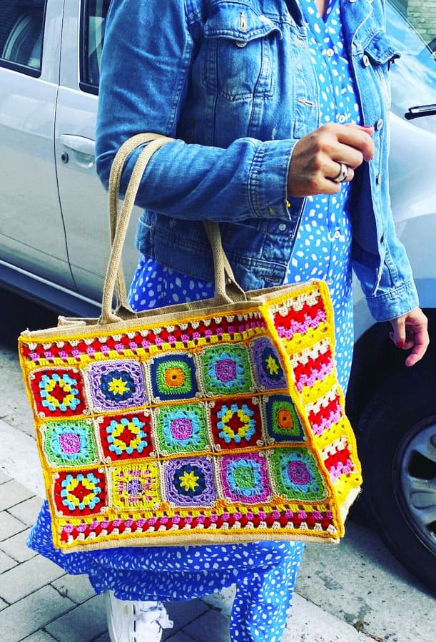 Little Granny Square Crochet Bags (2)