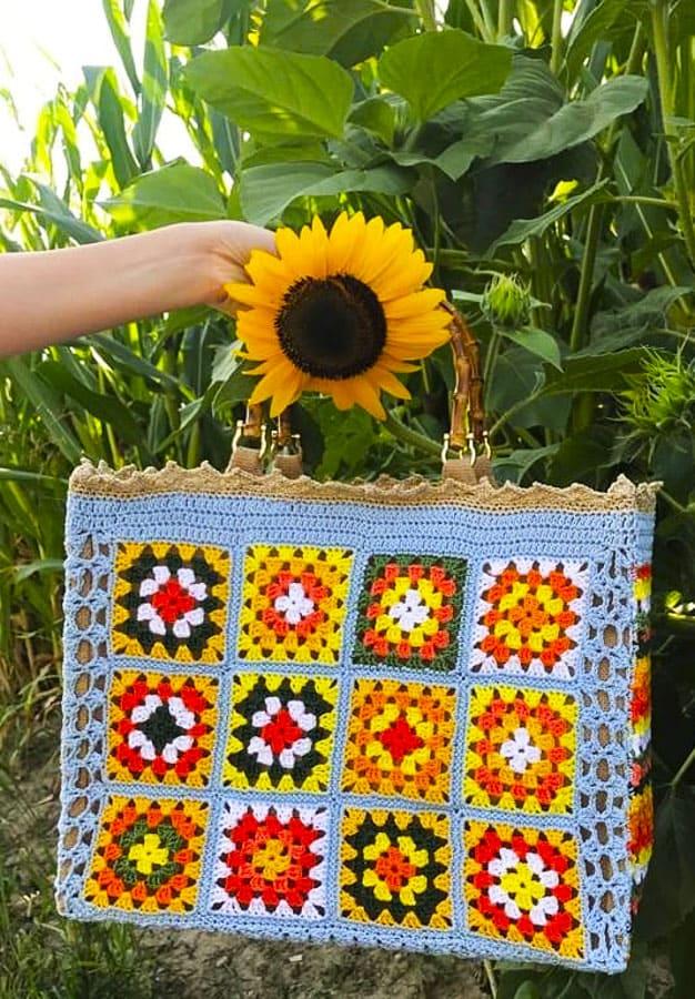 Little Granny Square Crochet Bags (3)