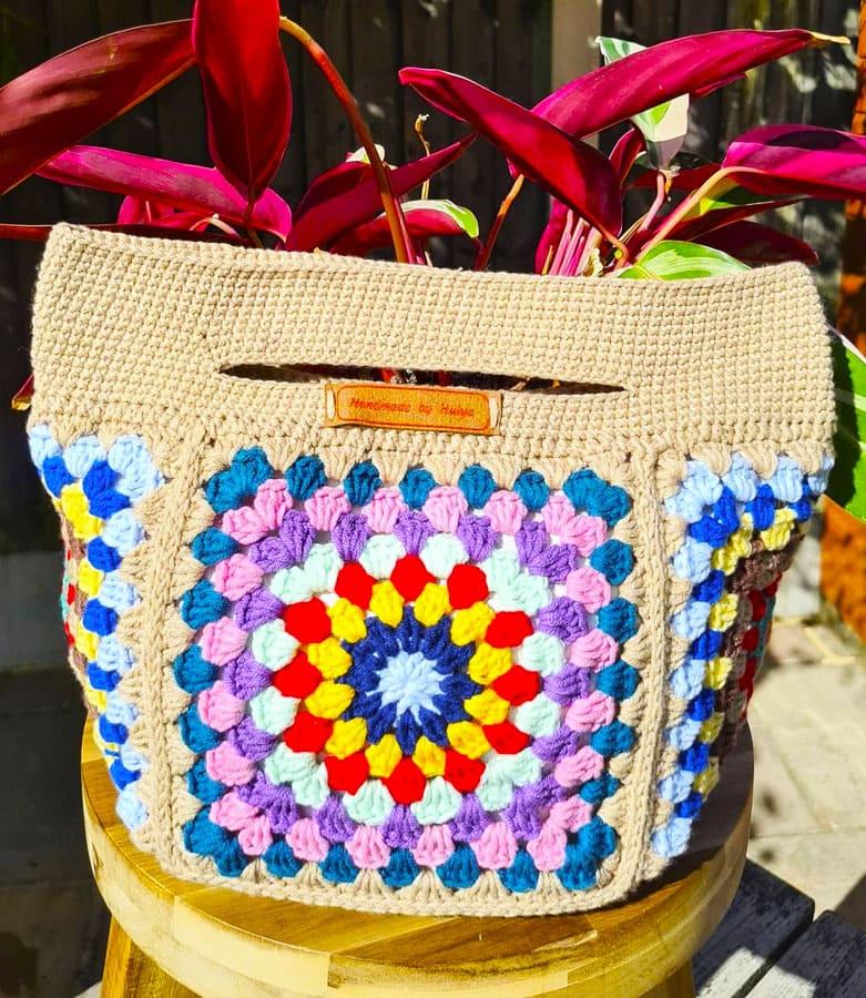 big granny square crochet bag (2)