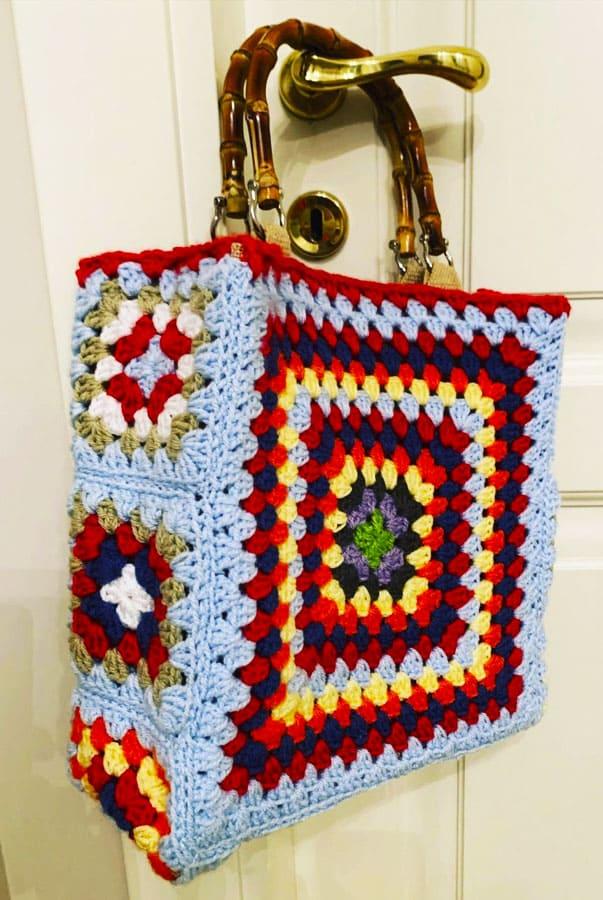 big granny square crochet bag (3)