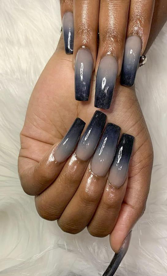 black ombre nails (2)