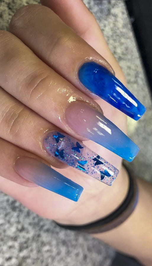 blue ombre nails (2)