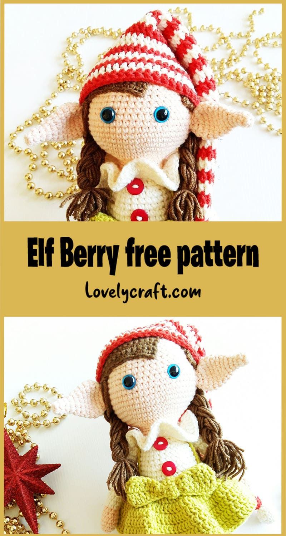 Elf berry amigurumi free crochet pattern