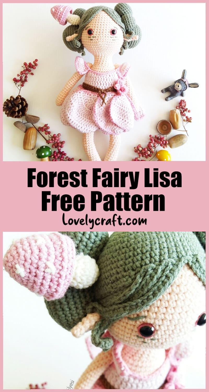 Forest Fairy amigurumi crochet free pattern