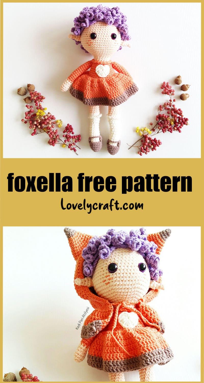 Fox girl amigurumi free crochet pattern