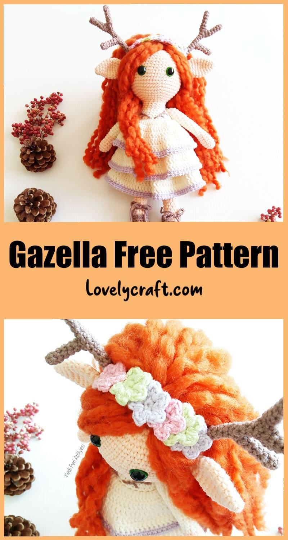 Deer girl amigurumi free crochet pattern
