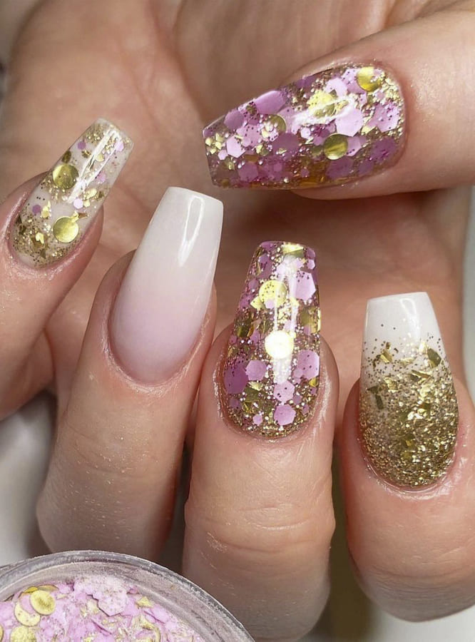 glitter ombre nails (2)