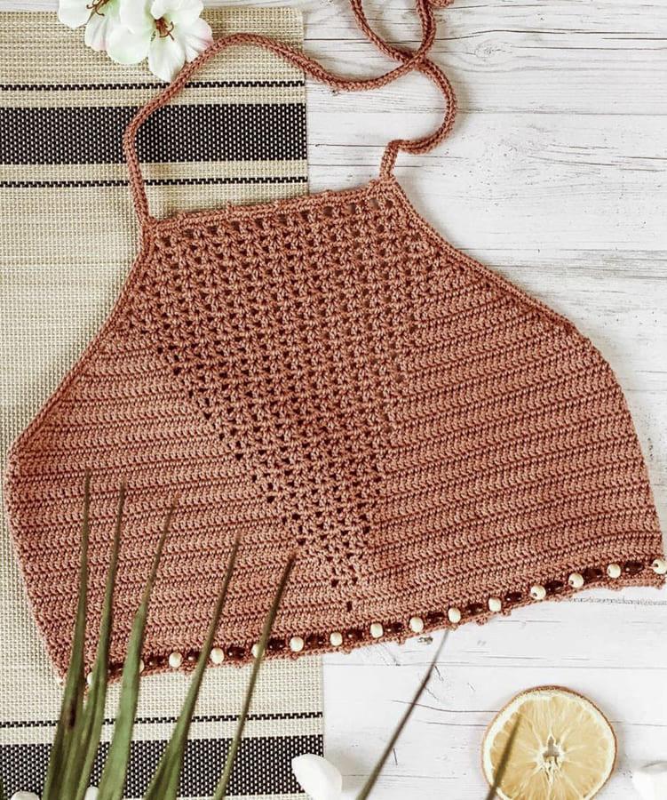 high neck crochet bikini top (1)
