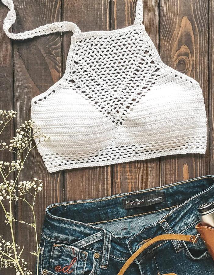 high neck crochet bikini top (2)