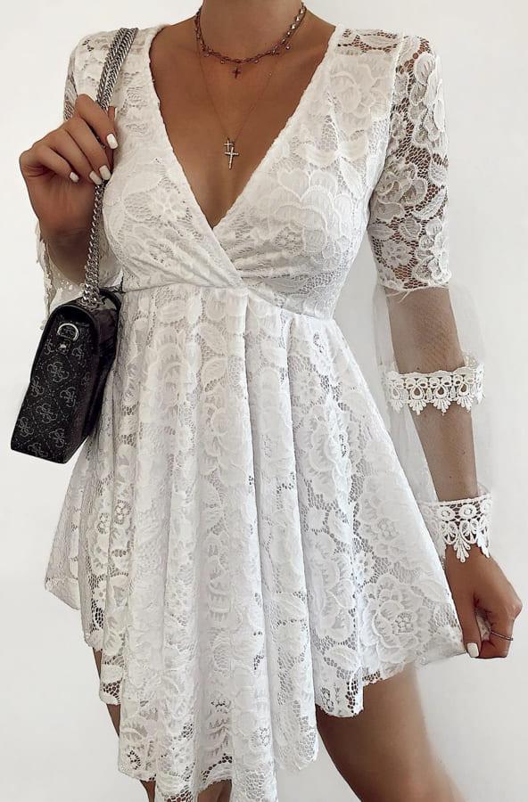 ivory crochet dress