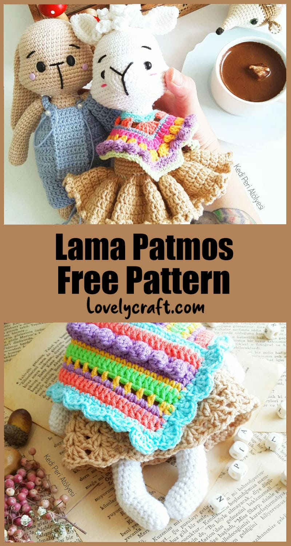 Llama amigurumi free crochet pattern