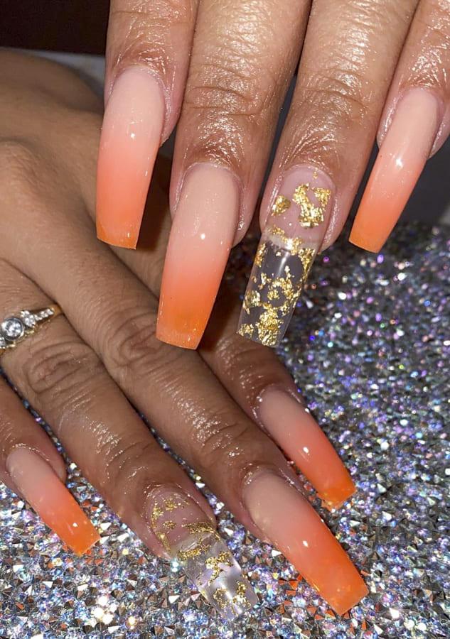 orange ombre nails (1)