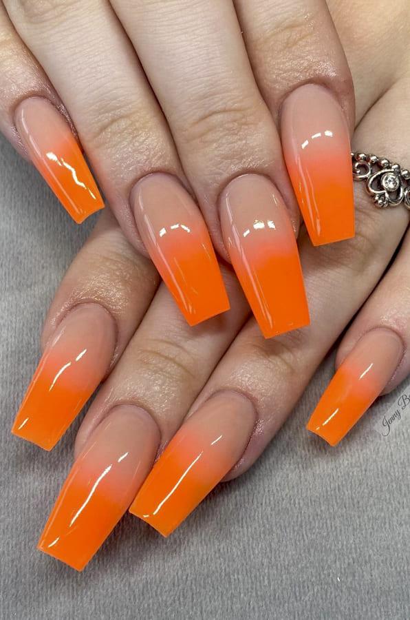 orange ombre nails (2)