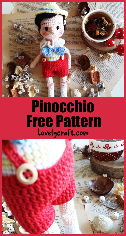 pinocchio free amigurumi crochet pattern