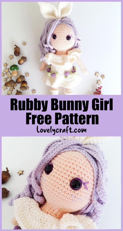 Ruby bunny girl amigurumi free pattern