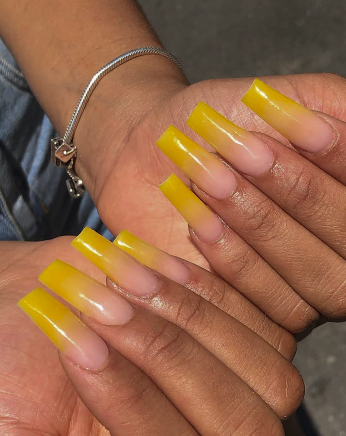yellow ombre nails (1)