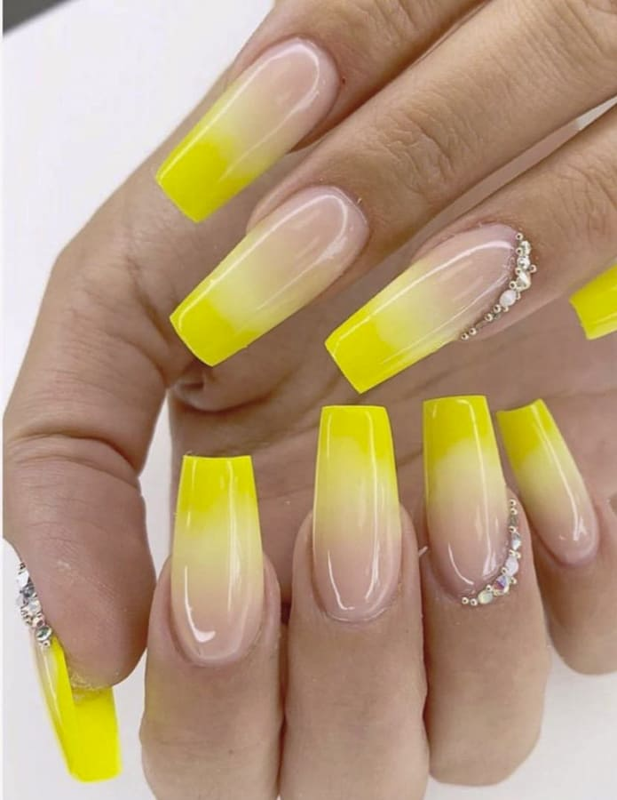 yellow ombre nails (2)