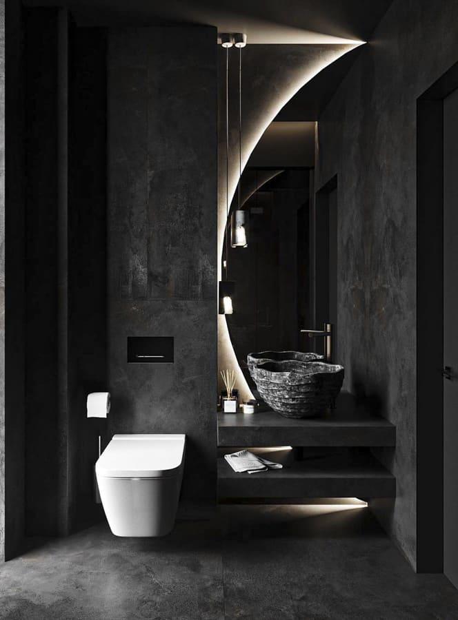 black bathroom accessories and design ideas in 2021