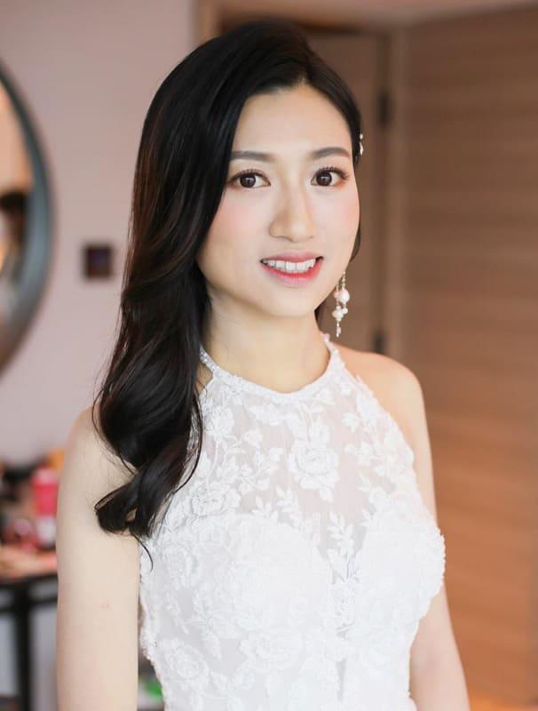 Asian long wedding hair