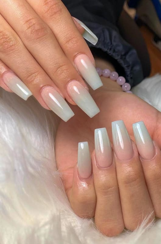 Awesome nude ombre nails