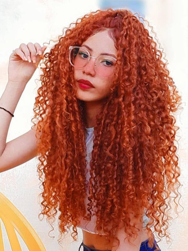 Awesome red long curly hair
