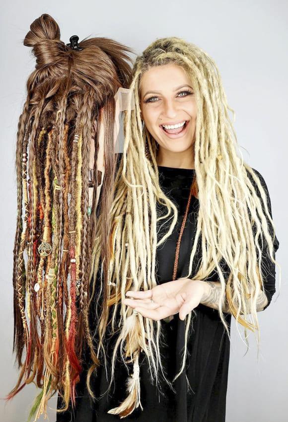 Long Blonde Hippie Hair