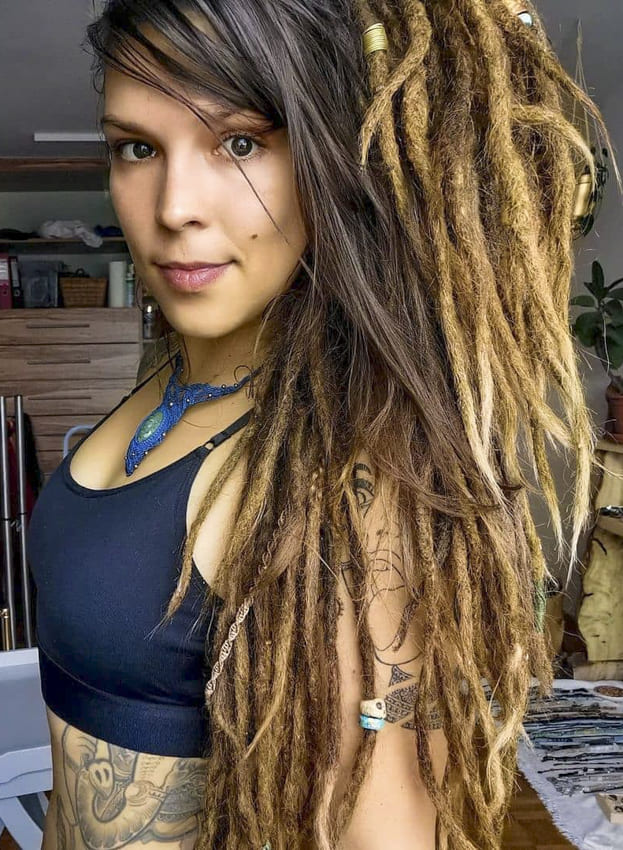 Long and Strong Hippie Hairstyles