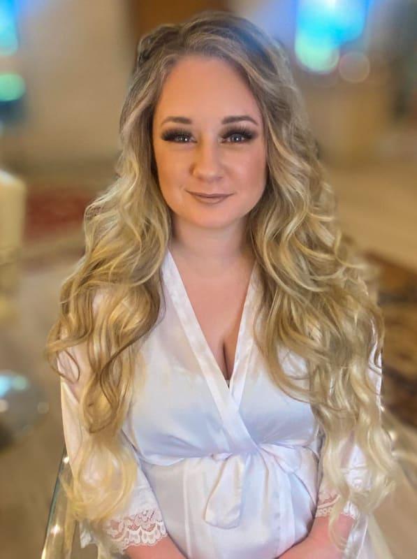 Long curly blonde wedding hairstyles