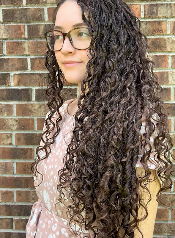 Long curly hairstyles with glasses