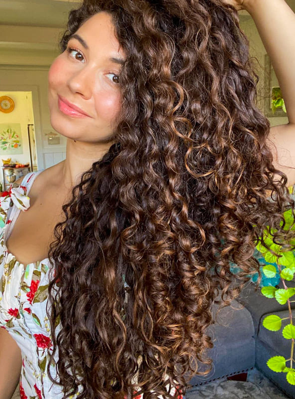 Long strong curly hair for women