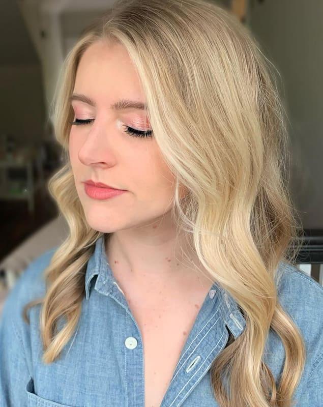 Long wavyy blonde wedding hairstyles