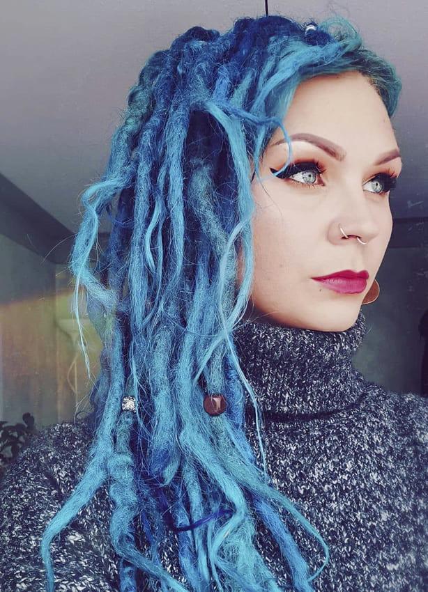 Medium Blue Hippie Hair
