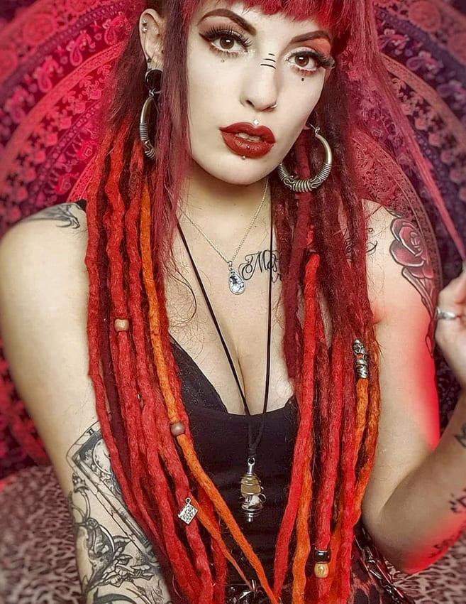 Red Hippie Hair