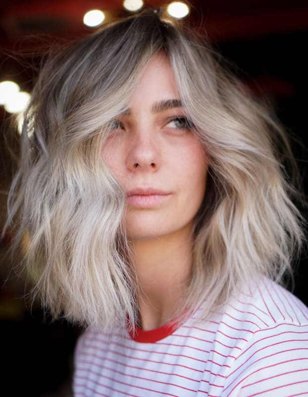 Short blonde thin hairstyles