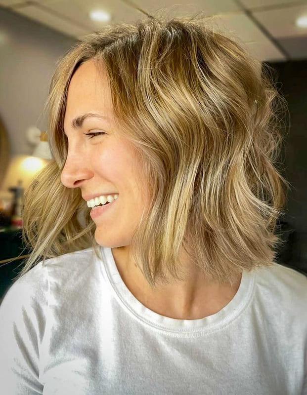 Short bob layered blonde hairstyles