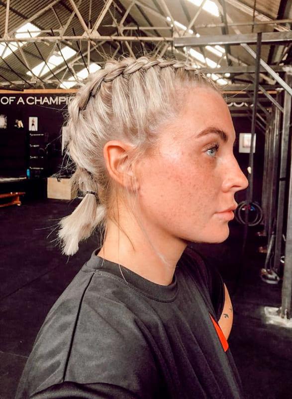 Short norvik blonde braided hair