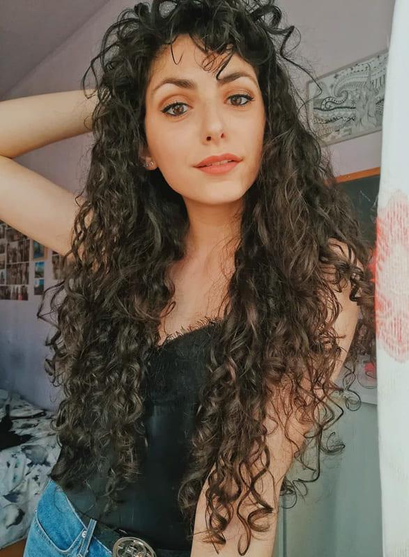long curly hair for natural hair