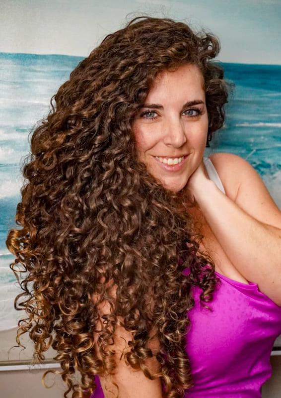 Over 35 Long curly Hair