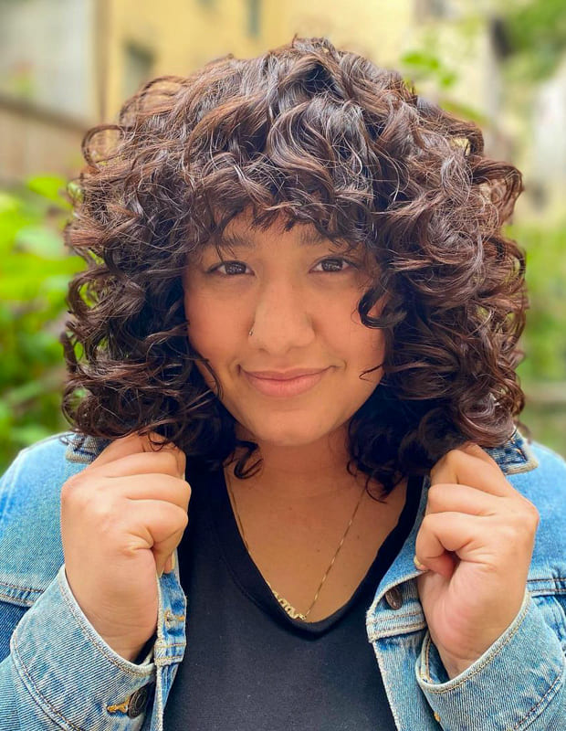 mexican girl short curly bob hairstyles