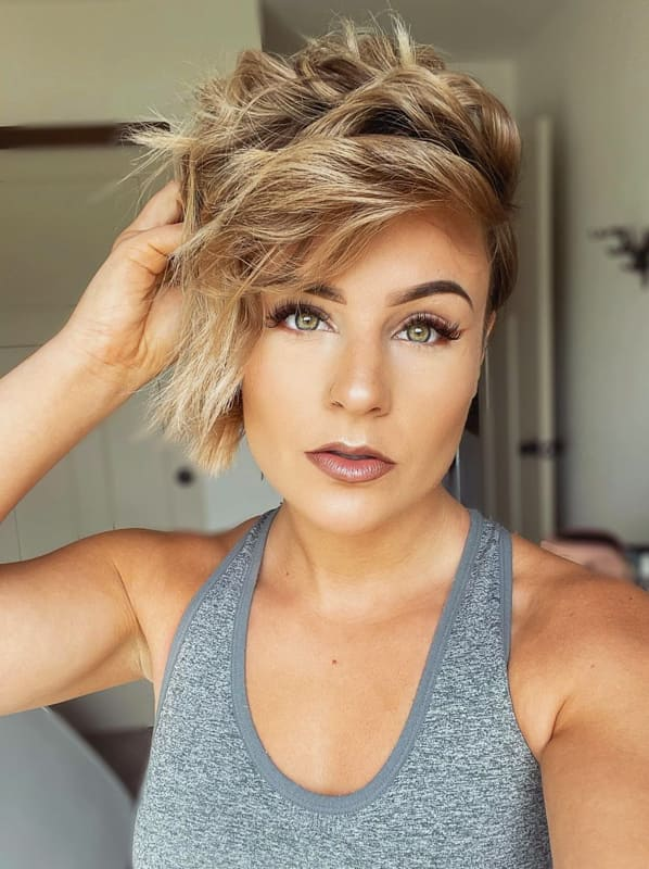 pixie ombre short layered hairstyles