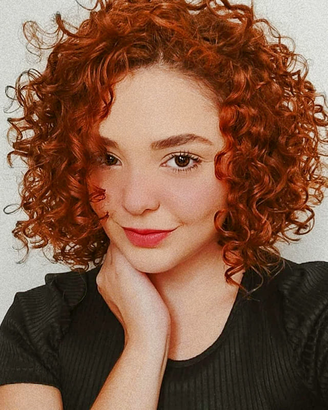 red short curly hairstyles