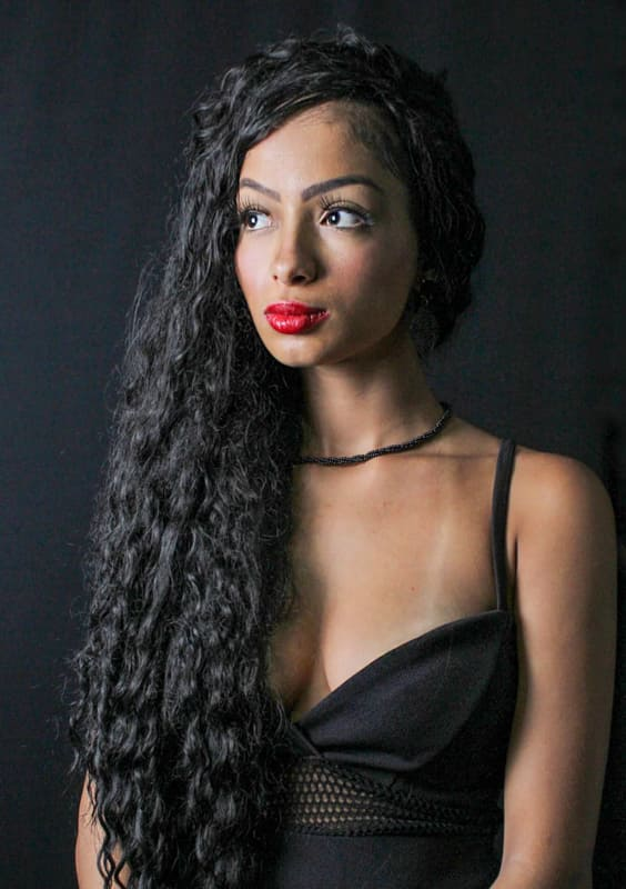 Long and black curly hairstyles