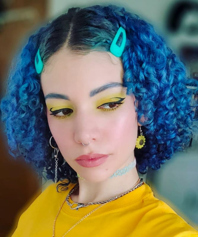 short blue curly hairstyles