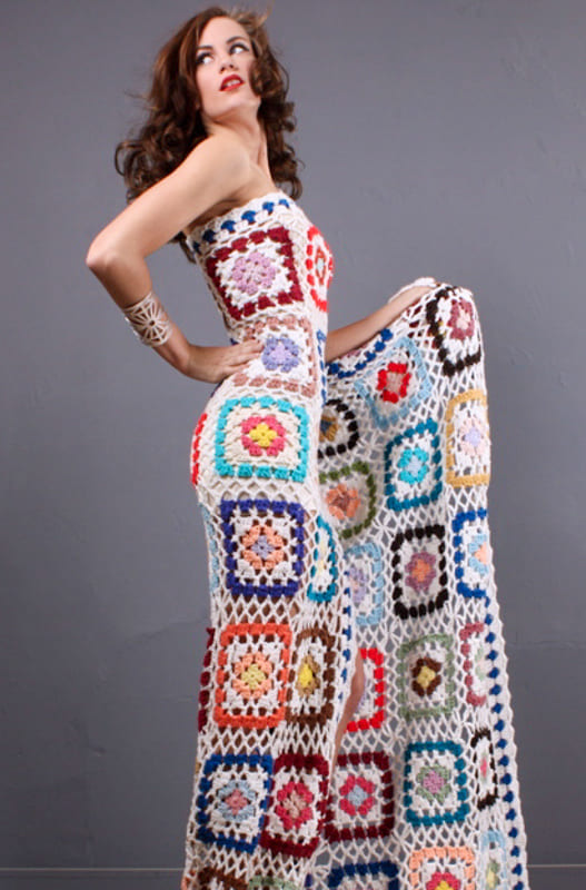 Awesome granny square long dress